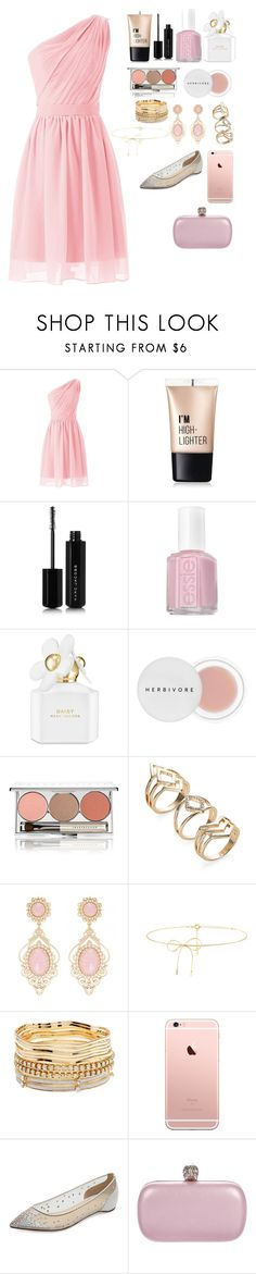 """""""Dream Dress"""" by meen16 ❤ liked on Polyvore featuring Charlotte Russe, Marc Jacobs, Essie, Herbivore, Chantecaille, Lilou, Christian Louboutin and Alexander McQueen"""