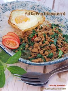 A taste of memories -- Echo's Kitchen: Thai Basil with Minced Meat/Pad Ka-Prao (ผัดกะเพรา)