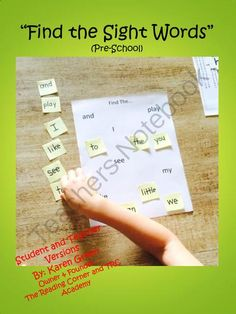 Find the Sightwords (Pre-School) from The Reading Corner on TeachersNotebook.com -  (25 pages)  - This package includes �Find the�� activities that introduce the first 33 sight words over a 31 week period.  3 new sight words are introduced every 3 weeks.