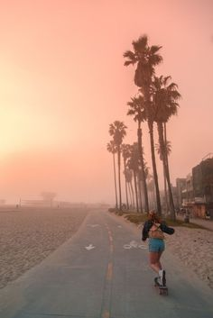 Sun, surf and solitude: a quiet side of LA – in pictures United skates. I am a Los Angeles-based photographer and love taking pictures down at the beach. The fog took over Venice Beach on this day, and provided this skateboorder with an atmospheric commut Venice Beach California, California Honeymoon, California Travel, Santa Monica California, California Sunset, California Dreamin', Travel Photography Tumblr, Photography Beach, Scenery Photography