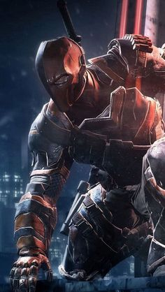 Deathstroke - the one assassin you can't out-smart. Love him as a villain, whether that is under the name Deathstroke or Slade. Comic Book Characters, Comic Book Heroes, Comic Character, Comic Books Art, Deathstroke The Terminator, Deadshot, Dc Deathstroke, Deathstroke Cosplay, Comic Style