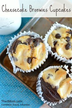 Cheesecake Brownie Cupcakes Recipe