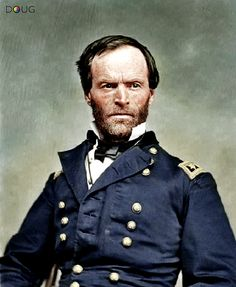 Civil War-Major General W.T. Sherman, 1865.l colorized