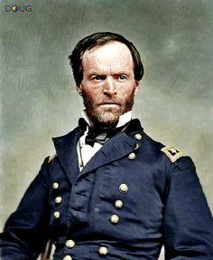 Civil War-Major General W.T. Sherman, 1865.l colorized