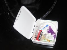 The hospital instructed me to have an emergency travel kit for her g-tube with her at all times. They provided me with a travel kit but it's HUGE and I forget Child Life Specialist, Feeding Tube, Pediatric Nursing, Special Needs Kids, Nicu, Travel Kits, Pediatrics, Just In Case, Therapy