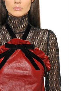 philosophy di lorenzo serafini - women - dresses - ruffled patent leather halter neck dress