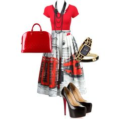London by design-21 on Polyvore featuring polyvore fashion style Chicwish Christian Louboutin Louis Vuitton Chanel Vince Camuto