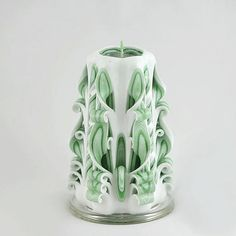 Carved Candle  Green Candle  man candle  by NewYorkCandleFactory, $22.95