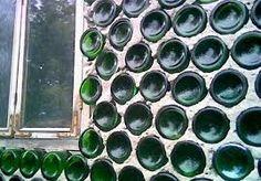 Resultado de imagen para casas de botellas y madera