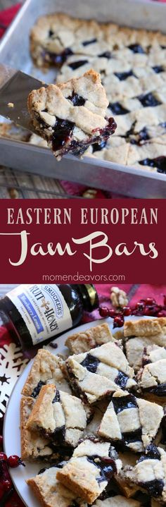 Jam Cookie Bars - an old, traditional Eastern European dessert pastry recipe