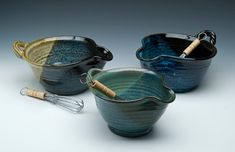 wheel thrown pottery egg bowl with whisk by SommervillePottery, $32.00