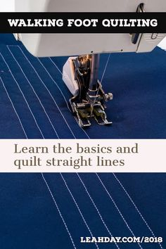 Learn the basics of walking foot quilting and how to quilt straight lines in a n. - Learn the basics of walking foot quilting and how to quilt straight lines in a new quilting tutoria - Machine Quilting Patterns, Quilt Patterns, Quilting Stitch Patterns, Hexagon Quilting, Modern Quilting, Patchwork Quilting, Crazy Quilting, Block Patterns, Nancy Zieman