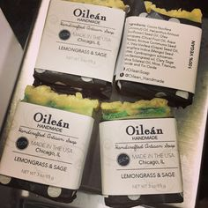 Handmade soap and packaging! #oileansoap www.facebook.com/oileansoap