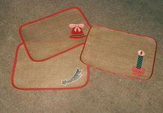 Manteles individuales de navidad confeccionados en yute for Como hacer caminos de mesa modernos