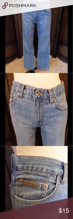 """Calvin Klein Bootcut High Waisted Jeans Size 4 Great pair of high waisted Calvin Klein medium wash bootcut jeans.  In great condition.  84% cotton, 14% polyester and 2% spandex.  Measures 28"""" waist, 36"""" hip, 10"""" rise and 31"""" inseam Calvin Klein Jeans Jeans Boot Cut"""