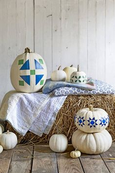 From decoupaged to hand-painted, this crop of clever farm-fresh pumpkin ideas is ripe for the picking.