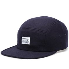 5f575ae4c52 Norse Projects Wool Flannel 5 Panel Cap (Navy) Mens Fashion Casual Wear