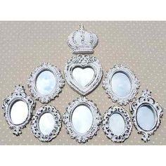 Kit 8 Espelhos Decorativos Estilo Provençal - R$ 100,00 no MercadoLivre