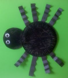 Crafts For Preschoolers: paper plate spider. Or could just use black construction paper to avoid the paint mess