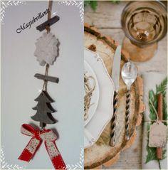 sagoma di abete in legno con fiocco rosso,gessetto profumato alla lavanda a forma di stella di Natale