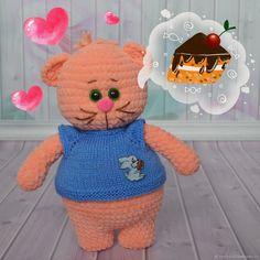 Купить Кот вязаный Абрикосик в интернет магазине на Ярмарке Мастеров