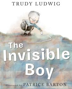 The invisible boy by Trudy Ludwig. Explore how Trudy Ludwig has used colour when creating the character of Brian. A good text to use when teaching characterisation of visual literacy. Books And Tea, The Invisible Boy, Feeling Invisible, Mentor Texts, Thinking Day, Social Thinking, Thinking Skills, Classroom Community, Anti Bullying