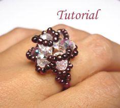 Beaded Vintage Rose Ring Tutorial