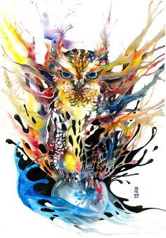 Ilustrações em aquarela de Luqman Reza/Jongkie; Mais