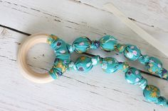 Teething Necklace - Tealberry Ring - The Vintage Honey Shop #vhpingiveaway