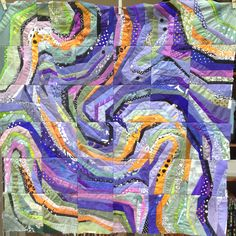 Swirls 102 x 102 cm, for sale Ursula Kern Ursula, Quilting Projects, Quilting Designs, String Quilts, Colorful Quilts, Textiles, Contemporary Quilts, Quilt Stitching, Scrappy Quilts
