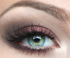 just love these colors: a cranberry and velvety brown with that pretty blue-green eye color