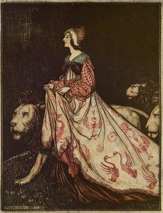 liquidnight:  Arthur Rackham - Illustration from The Singing, Springing Lark by the Brothers Grimm