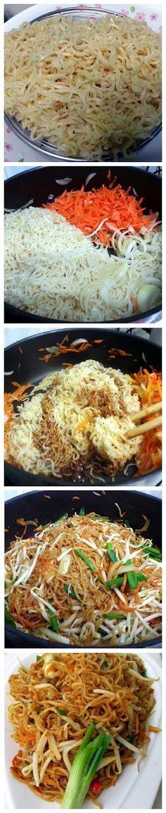 Stir Fry Ramen - sub with rice noodles