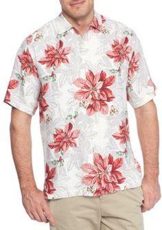 Tommy Bahama  Short Sleeve Festive Flora Button Down Shirt