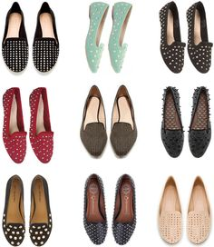studded loafers. I am slowly falling in love with everything that is shiny or studded... :)