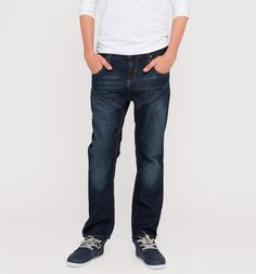 Frontimage view Jeans in jeans-dunkelblau