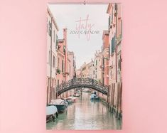 Italy 2022 Wall Calendar Large Travel Gift for a Friend, College Student, Mom or Sister