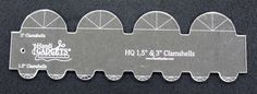 """#HandiQuilter Clamshells are fun to play with! HQ 1½"""" & 3"""" Clamshell Template"""