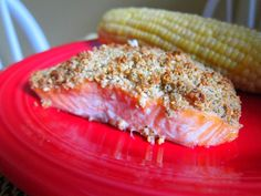 Cashew crusted salmon This is good. Probably a 4/5. I served it with couscous, sautéed red peppers, and salad. SC