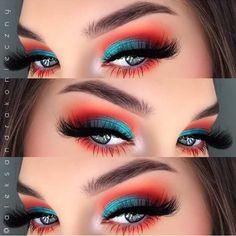 Via www.achotendencia.com maquiagem, carnaval, ideia, colori