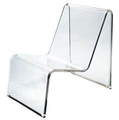 MADISON- Monolithic acrylic reclining chair Acrylic Chair, Acrylic Furniture, Lucite Furniture, Furniture Design, Interior Inspiration, Design Inspiration, Sofa Bench, Antique Chairs, Decoration