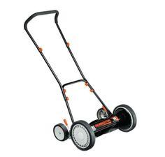 16 In. Reel Walk-Behind Mower Padded Handle Adjustable Lightweight Nonelectric