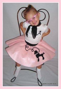 Adorable Toddler Custom Made LuLu poodle skirt Your choice of Size and Color 0-12mos,1t-2t,3t-4t on Etsy, $21.99