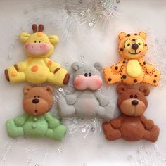 ANIMALITOS DE PASTA FLEXIBLE PARA BABY SHOWER.By Elvia Padilla. Contacto: elii.padilla@hotmail.com