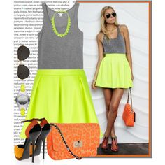 """""""How Do You Style Skater Skirts?"""" by lovelycreola on Polyvore"""