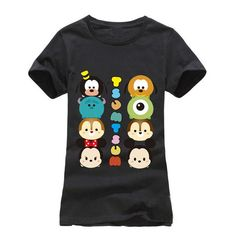 Fashion Summer T shirt Women Striped mouse T Shirts Short Sleeve Cartoon Tee Anchor Printed Tops Cotton Owl T-Shirts lady tops