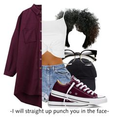 """""""03/27/16"""" by shaystaxx ❤ liked on Polyvore featuring Topshop, Chicnova Fashion and Converse"""
