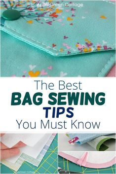 All best bag sewing tips and probably nearly everything you need to know if you want to make bags: see how to make bag straps and bag handles, how to sew an adjustable bag strap, how to make wristlet strap, how to make neat strap ends, how to sew pockets, everything about bag closures (magnetic snaps, buttons, zipper sewing), adding tabs, about bag construction, bag interfacing and tons of sewing hacks and tips. Visit the post to get them all! #bagmaking #sewing #sewingbags Sewing Diy, Easy Sewing Projects, Baby Sewing, Free Sewing, Sewing Hacks, Sewing Tutorials, Coin Purse Pattern, Wallet Pattern, Purse Patterns