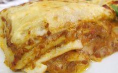 Receita de lasanha de carne com massa de panqueca fácil para a fase cruzeiro PL dukan.