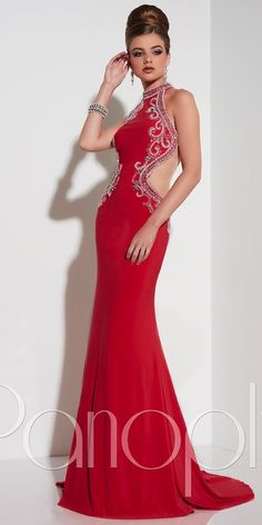 High Neck Open Back Prom Dress Panoply, BRIDAL & FORMAL BY RJS